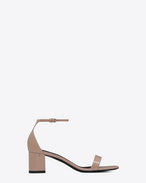 SAINT LAURENT Loulou D LOULOU 50 sandals in beige pink patent leather f