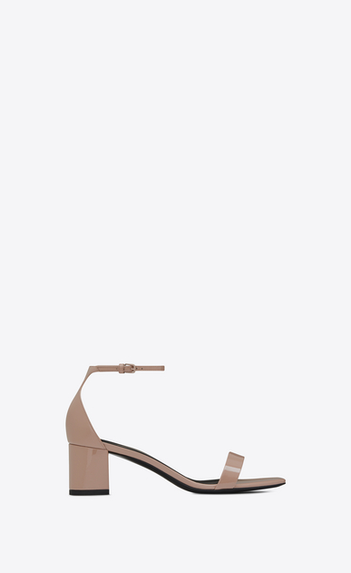 SAINT LAURENT Loulou D LOULOU 50 sandals in beige pink patent leather a_V4