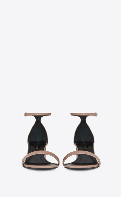 SAINT LAURENT Loulou D LOULOU 50 sandals in beige pink patent leather b_V4