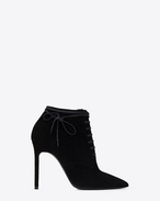 SAINT LAURENT Anja D ANJA 105 ankle boot in black suede f