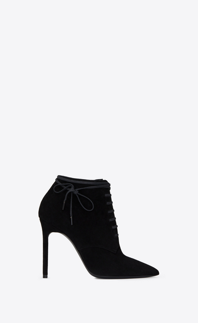SAINT LAURENT Anja 여성 ANJA 105 ankle boot in black suede a_V4