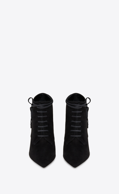 SAINT LAURENT Anja 여성 ANJA 105 ankle boot in black suede b_V4