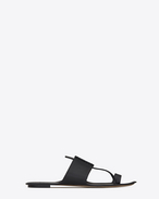 SAINT LAURENT Nu pieds D SABA sandal in black leather f