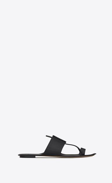 SAINT LAURENT Nu pieds D SABA Sandale aus schwarzem Leder a_V4
