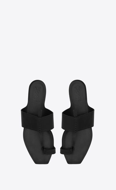 SAINT LAURENT Nu pieds D SABA sandal in black leather b_V4