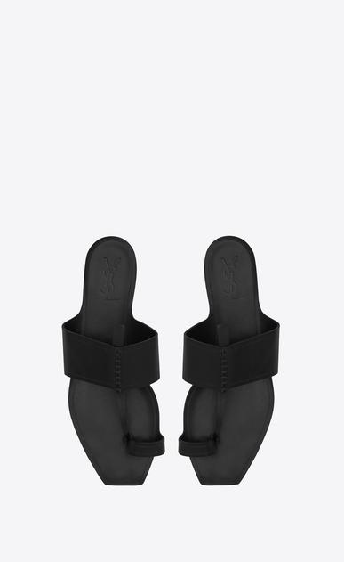 SAINT LAURENT Nu pieds D SABA Sandale aus schwarzem Leder b_V4