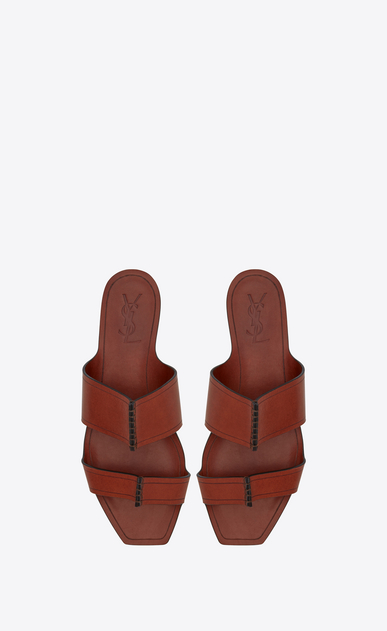 SAINT LAURENT Nu pieds D SABA sandal in caramel leather b_V4