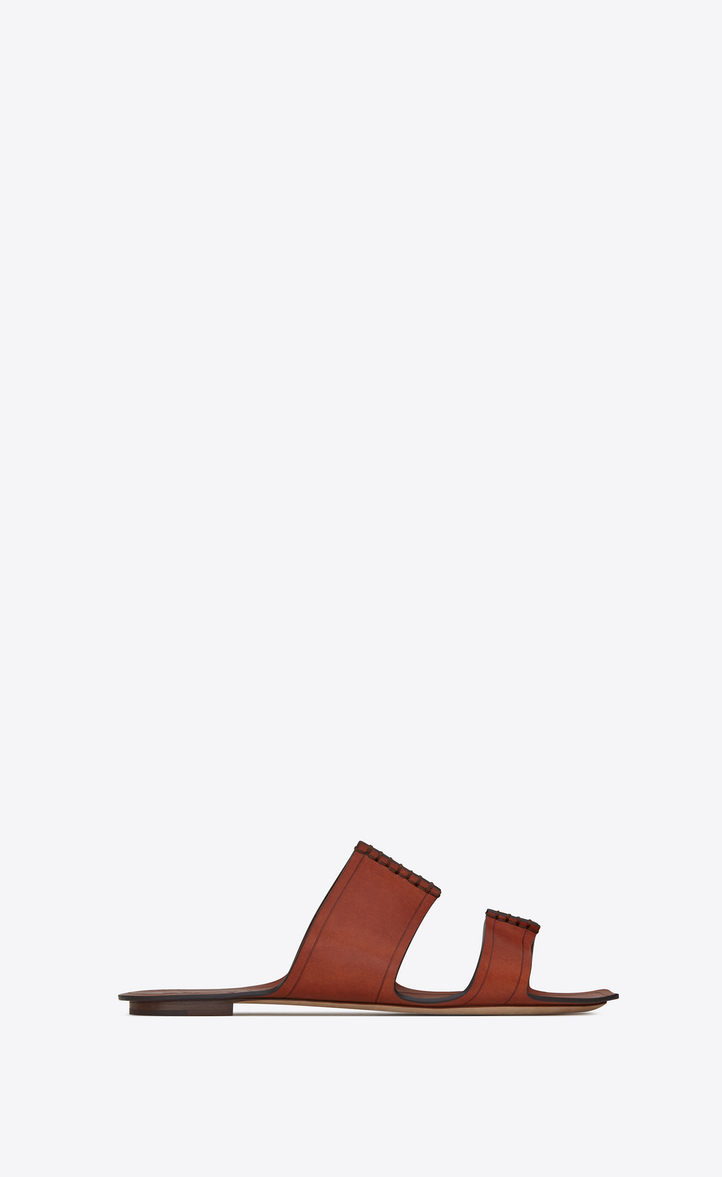 Sandales En Cuir Saba Saint Laurent aHcP6V6F8