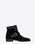 SAINT LAURENT Flat Booties D MATT 10 ankle boots in black suede and leather f