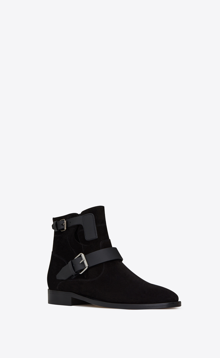 Saint LaurentLeather Ankle Boots Gr. EU 44 Wt2DL