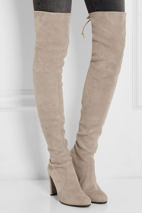 6b7c7dc915e ... STUART WEITZMAN Highland stretch-suede over-the-knee boots ...