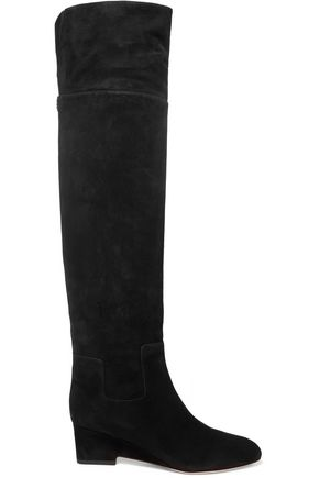 JIMMY CHOO LONDON Marcie suede over-the-knee boots