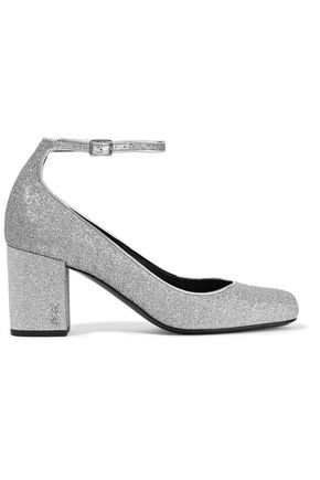 SAINT LAURENT Babies glittered leather pumps