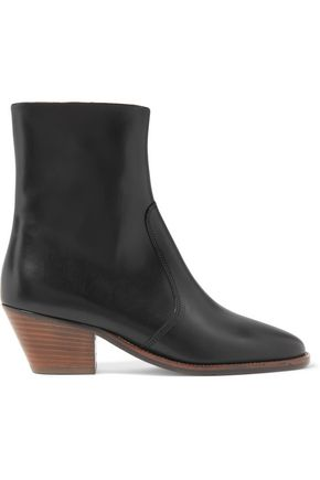 ISABEL MARANT ÉTOILE Étoile Doynie glossed-leather ankle boots