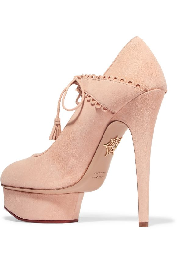 Ophelia suede pumps | CHARLOTTE OLYMPIA | Sale up to 70% off | THE OUTNET