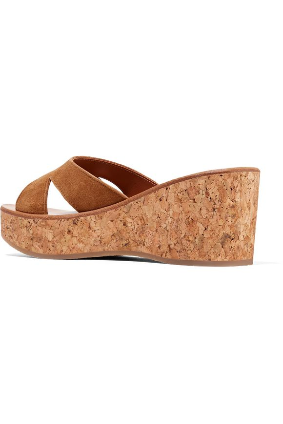d113e3e57b23 Kobe suede and cork wedge sandals