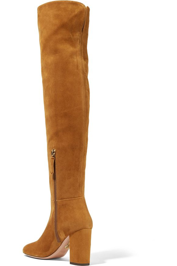 14541fe30db6 London suede over-the-knee boots | AQUAZZURA | Sale up to 70% off ...