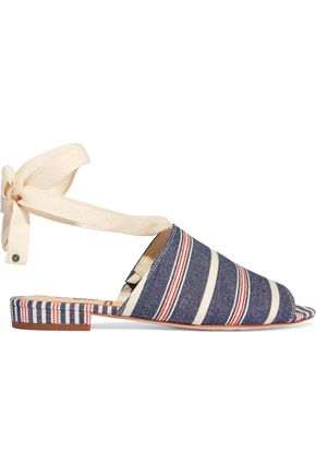 SAM EDELMAN Tai striped woven canvas sandals