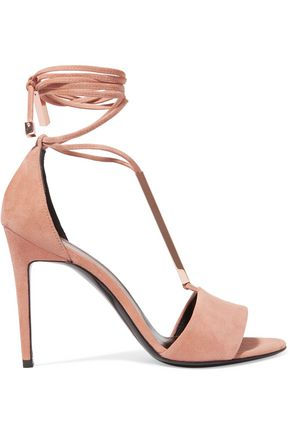PIERRE HARDY Blondie metallic striped leather sandals