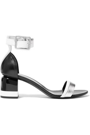 PIERRE HARDY Memphis metallic-trimmed leather sandals