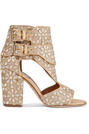 LAURENCE DACADE Rush cutout suede sandals