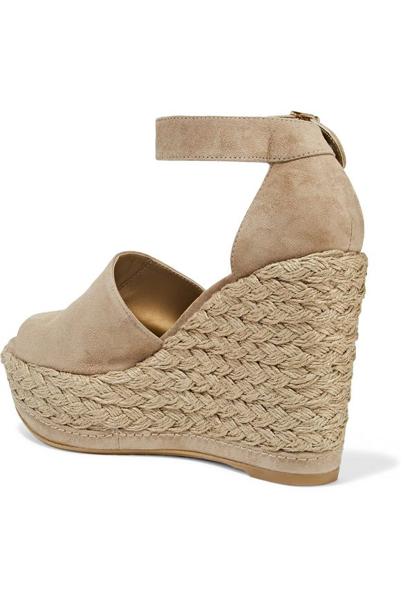 Sohogal suede espadrille wedge sandals | STUART WEITZMAN | Sale up to 70%  off | THE OUTNET