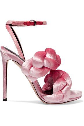 MARCO DE VINCENZO Braided velvet sandals