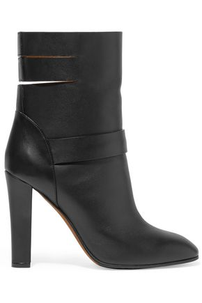 AGNONA Cutout leather ankle boots