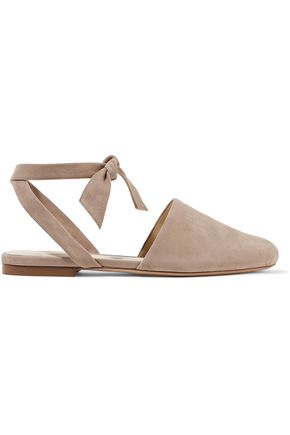 WOMAN SUEDE SLIPPERS TAUPE
