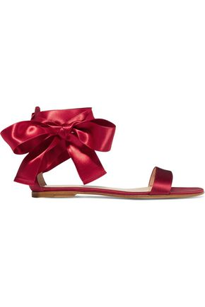 GIANVITO ROSSI Lace-up satin sandals