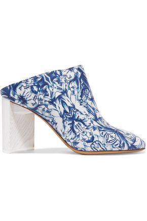 MAISON MARGIELA Floral-print leather mules