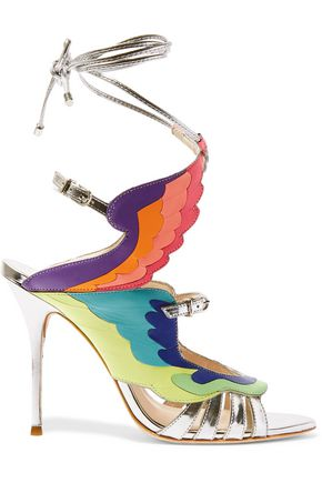 SOPHIA WEBSTER Fire Bird metallic leather sandals