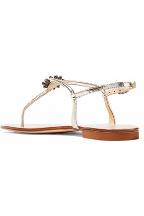 sale the cheapest 2014 cheap sale Giuseppe Zanotti Embellished Lizard Sandals KzrjG8