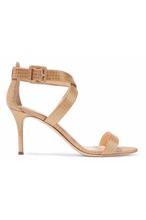 GIUSEPPE ZANOTTI DESIGN Metallic houndstooth jacquard sandals