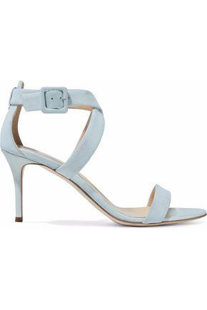 GIUSEPPE ZANOTTI Metallic suede sandals