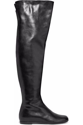 GIUSEPPE ZANOTTI DESIGN Glossed-leather over-the-knee boots