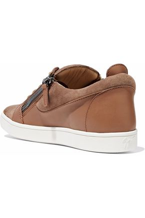 GIUSEPPE ZANOTTI Leather and suede sneakers