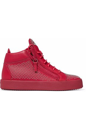 GIUSEPPE ZANOTTI DESIGN Studded leather high-top sneakers