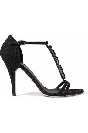 GIUSEPPE ZANOTTI DESIGN Crystal-embellished suede sandals