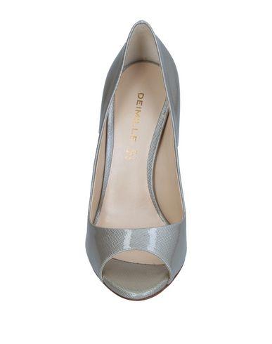 Фото 2 - Женские туфли  светло-серого цвета