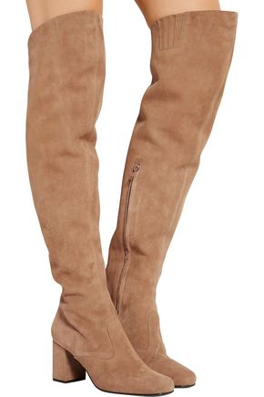 SAINT LAURENT BB suede over-the-knee boots