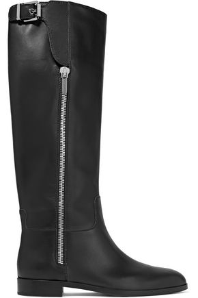 SERGIO ROSSI Nappa leather knee boots