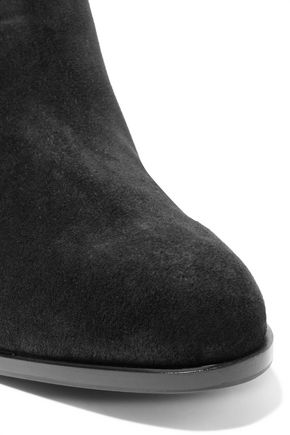 SERGIO ROSSI Buckled suede ankle boots