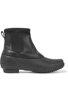 LOEFFLER RANDALL Hartley shearling-lined rubber and leather rain boots