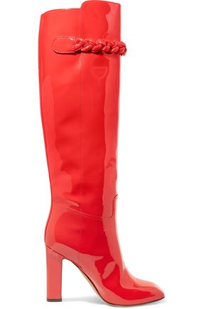 VALENTINO Patent-leather knee boots