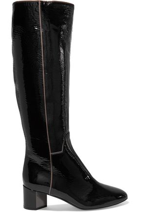 PIERRE HARDY Patent-leather knee boots