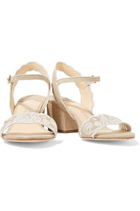 ISA TAPIA Luisa broderie anglaise canvas sandals