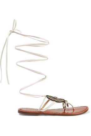 SCHUTZ Centi embellished leather sandals