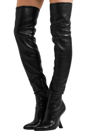 44b7720c4b8ec Leather over-the-knee boots | TOM FORD | Sale up to 70% off | THE OUTNET