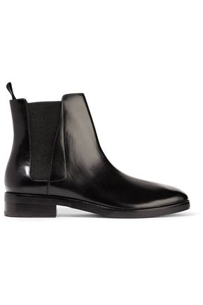ALEXANDER WANG Fia polished-leather ankle boots